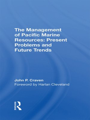 cover image of The Management of Pacific Marine Resources