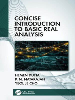 cover image of Concise Introduction to Basic Real Analysis