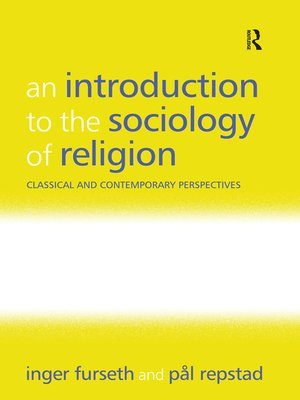 cover image of An Introduction to the Sociology of Religion