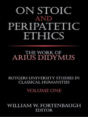 cover image of On Stoic and Peripatetic Ethics