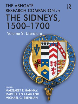 cover image of The Ashgate Research Companion to the Sidneys, 1500–1700
