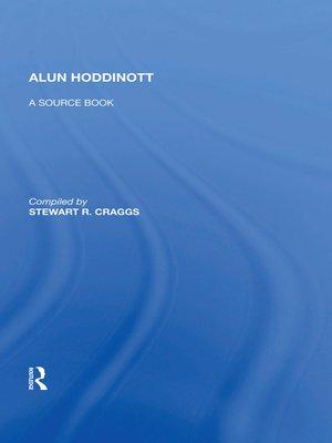 cover image of Alun Hoddinott