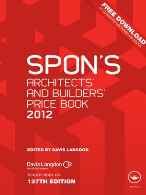 cover image of Spon's Architects' and Builders' Price Book 2012