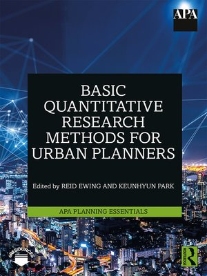 cover image of Basic Quantitative Research Methods for Urban Planners