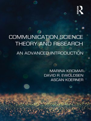 cover image of Communication Science Theory and Research