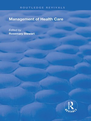 cover image of Management of Healthcare