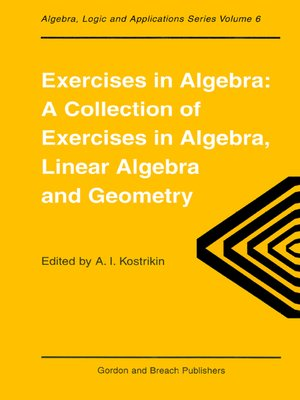 cover image of Exercises in Algebra