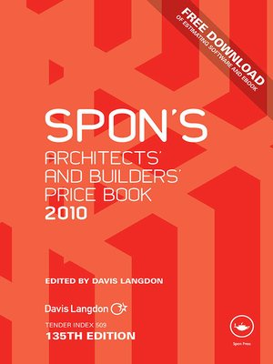 cover image of Spon's Architects' and Builders' Price Book 2010
