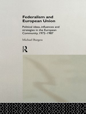 cover image of Federalism and European Union