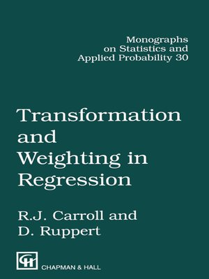 cover image of Transformation and Weighting in Regression