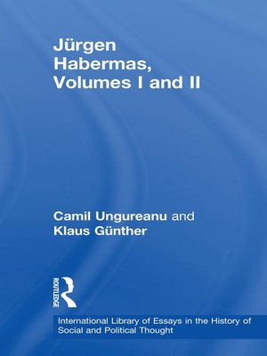 cover image of Jürgen Habermas, Volumes I and II