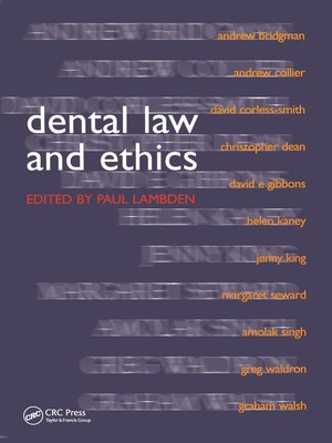 cover image of Dental Law and Ethics