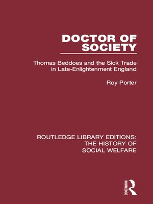 cover image of Doctor of Society