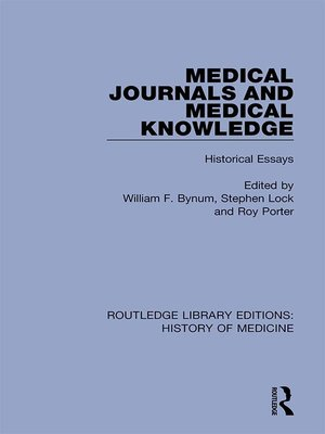 cover image of Medical Journals and Medical Knowledge