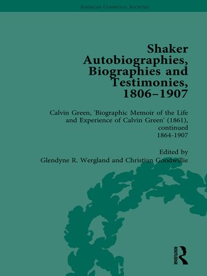 cover image of Shaker Autobiographies, Biographies and Testimonies, 1806--1907 Vol 3