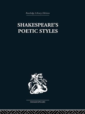 cover image of Shakespeare's Poetic Styles