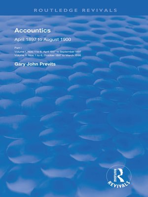cover image of Accountics, Part I