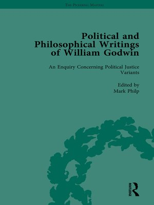 cover image of The Political and Philosophical Writings of William Godwin vol 4
