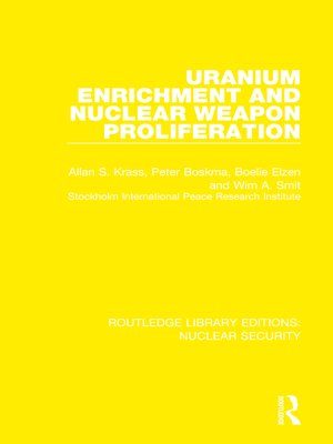 cover image of Uranium Enrichment and Nuclear Weapon Proliferation