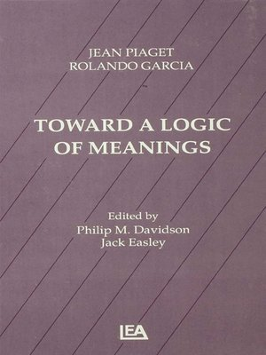 cover image of Toward a Logic of Meanings