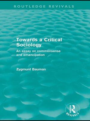cover image of Towards a Critical Sociology (Routledge Revivals)