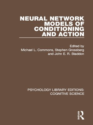 cover image of Neural Network Models of Conditioning and Action