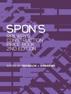 cover image of Spon's Railways Construction Price Book