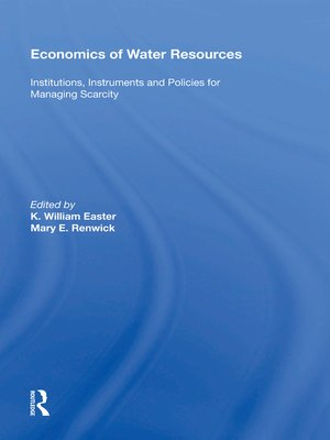 cover image of Economics of Water Resources