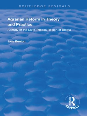 cover image of Agrarian Reform in Theory and Practice