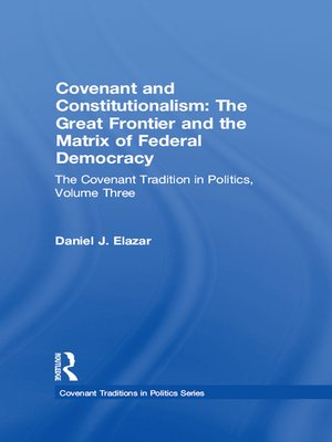cover image of Covenant and Constitutionalism