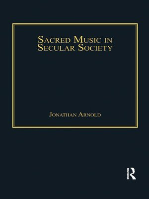 cover image of Sacred Music in Secular Society