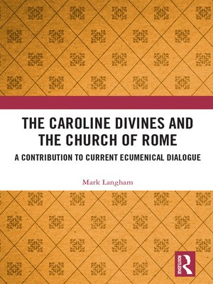 cover image of The Caroline Divines and the Church of Rome