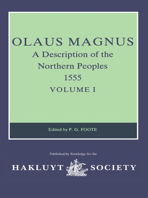 cover image of Olaus Magnus, a Description of the Northern Peoples, 1555