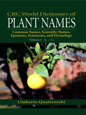 cover image of CRC World Dictionary of Plant Names