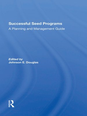 cover image of Successful Seed Programs