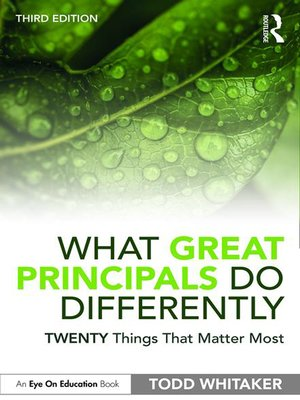 cover image of What Great Principals Do Differently