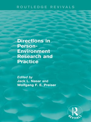 cover image of Directions in Person-Environment Research and Practice (Routledge Revivals)