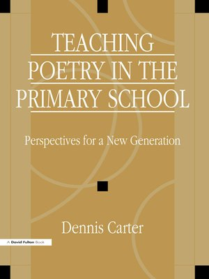 cover image of Teaching Poetry in the Primary School