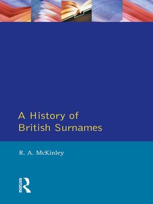 cover image of A History of British Surnames