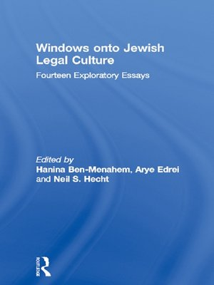 cover image of Windows onto Jewish Legal Culture