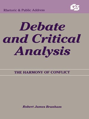 cover image of Debate and Critical Analysis