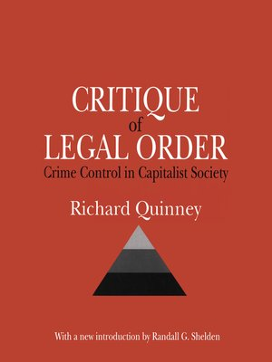 cover image of Critique of the Legal Order