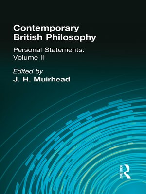 cover image of Contemporary British Philosophy