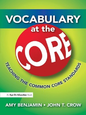 cover image of Vocabulary at the Core