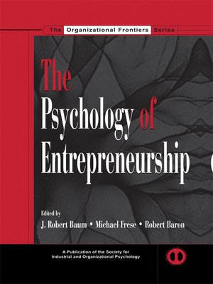cover image of The Psychology of Entrepreneurship
