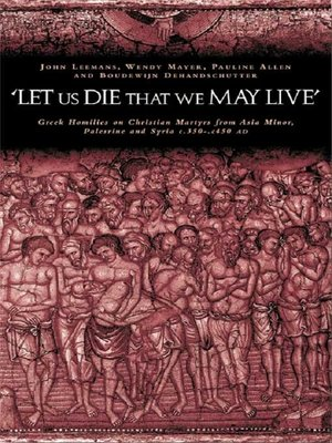 cover image of 'Let us die that we may live'