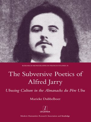 cover image of The Subversive Poetics of Alfred Jarry
