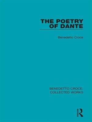 cover image of The Poetry of Dante