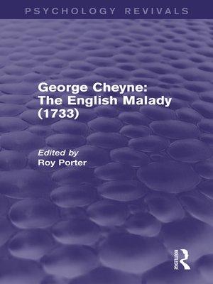 cover image of George Cheyne