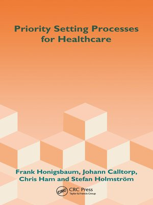 cover image of Priority Setting Processes for Healthcare